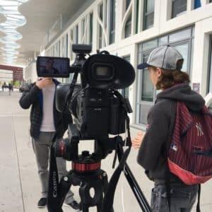 Interview caméra trottoir